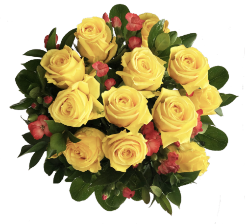 Exquisite Yellow Rose Bouquet (Approximate delivery is 1-3 Days) Perspective: front