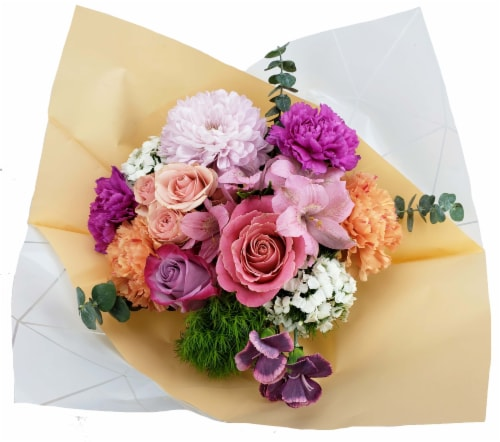 Riverdale Farms Watercolor Bouquet (Approximate delivery is 1-3 Days) Perspective: front