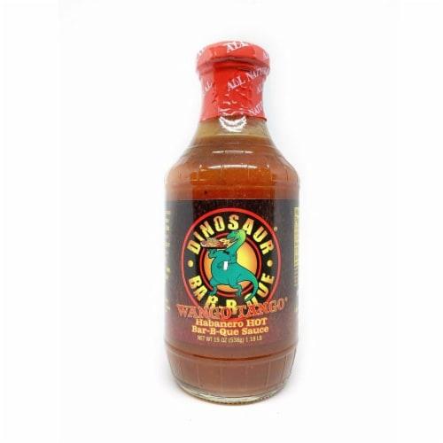 Dinosaur Wango Tango Habanero Hot Bar-B-Que Sauce, 19 oz [Pack of 6] Perspective: front