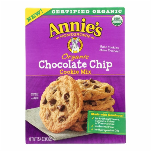 Annie's Homegrown - Mix Chocolate Chips Cookie - Case of 8-15.4 OZ Perspective: front
