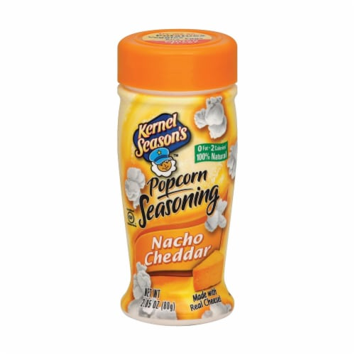 Kernel Seasons Popcorn Seasoning - Nacho Cheddar - Case of 6 - 2.85 oz. Perspective: front