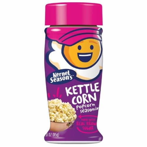 Kernal  Seaons Kettle Corn Seasoning, 3 oz (Pack of 6) Perspective: front