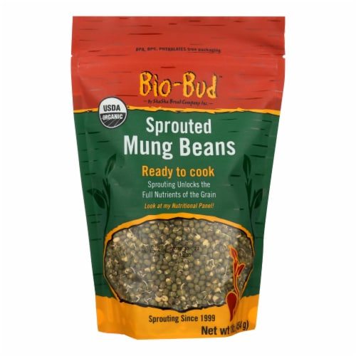 Shasha Bread Bio-Bud, Sprouted Mung Beans - Case of 12 - 16 OZ Perspective: front