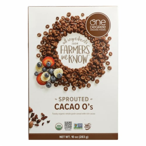 One Degree Organic Foods - Crl Sprtd Cacao O's - Case of 6 - 10 OZ Perspective: front