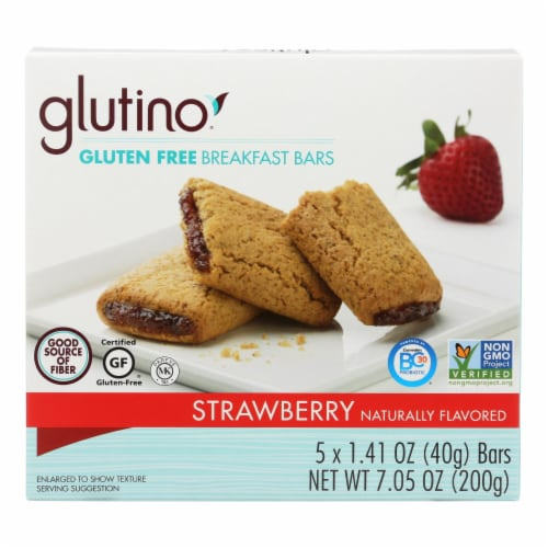 Glutino Strawberry Breakfast Bars Perspective: front