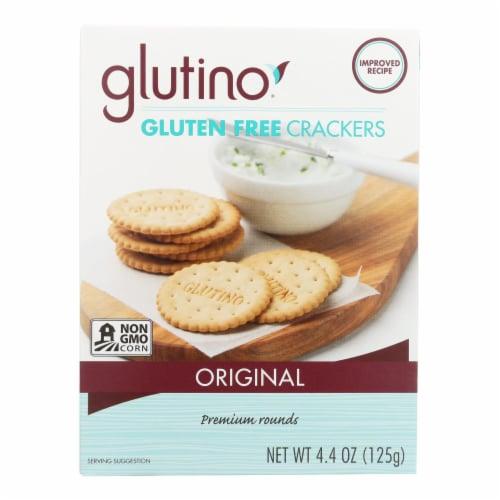 Glutino Original Crackers - Case of 6 - 4.4 oz. Perspective: front