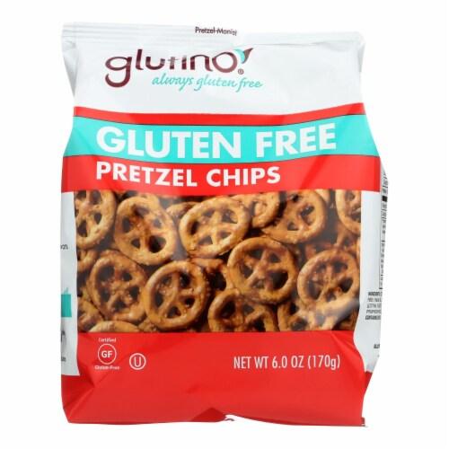 Glutino Pretzel Crisps - Gluten Free - Case of 6 - 6 oz. Perspective: front