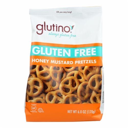 Glutino Pretzels - Honey - Case of 6 - 6 oz. Perspective: front