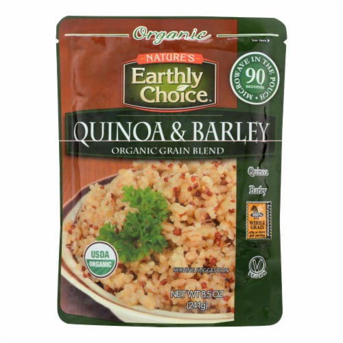 Nature's Earthly Choice Quinoa & Barley - Case of 6 - 8.5 OZ Perspective: front