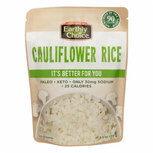 Nature's Earthly Choice - Rice Cauliflower - Case of 6 - 8.5 OZ Perspective: front