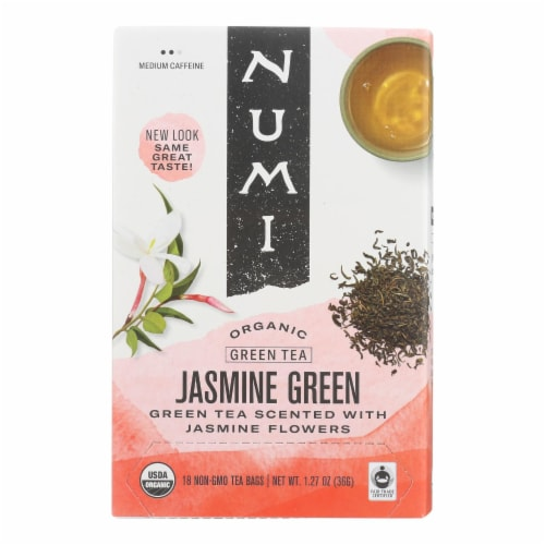 Numi Tea Jasmine Green Tea - Medium Caffeine - 18 Bags Perspective: front