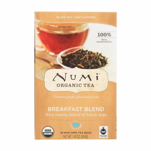 Numi Tea Black Tea - Breakfast Blend - Case of 6 - 18 Bags Perspective: front
