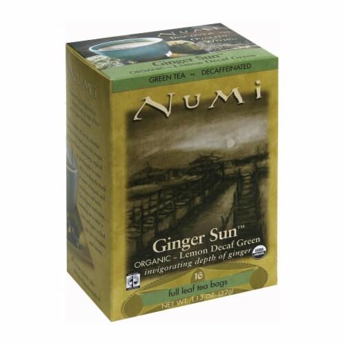 Numi Tea Organic Tea - Decaf Ginger Lemon - Case of 6 - 16 Bags Perspective: front