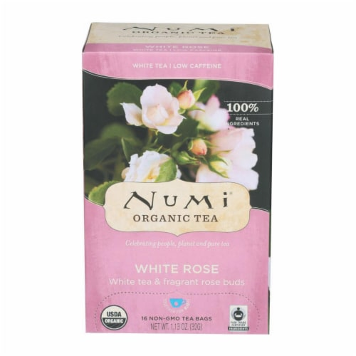 Numi Tea White Tea - White Rose - Case of 6 - 16 Bags Perspective: front