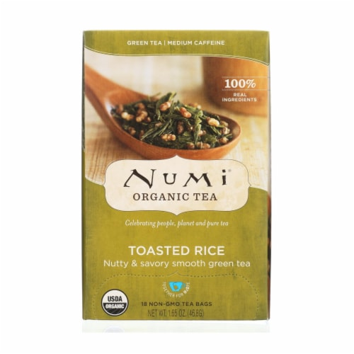 Numi Tea Toasted Rice Green Tea - Organic - Case of 6 - 18 Bags Perspective: front