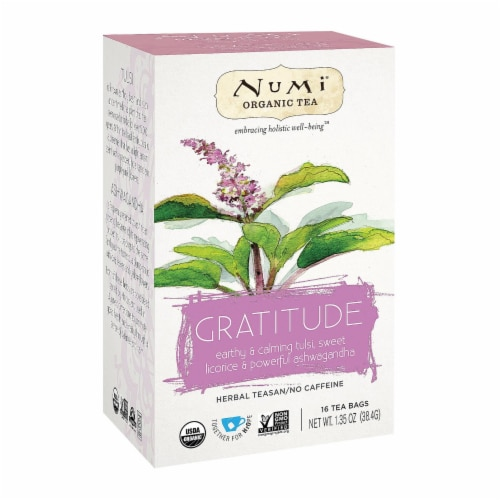 Numi Tea Organic Herb Tea - Gratitude - Case of 6 - 16 count Perspective: front