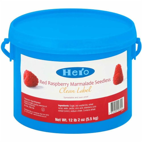 Hero Red Raspberry Marmalade Seedless Baking Jam, 12.12 Pound -- 1 each. Perspective: front