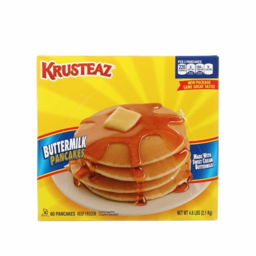 Krusteaz Light and Fluffy Club Pack Buttermilk Pancake, 1.235 Ounce -- 60 per case Perspective: front