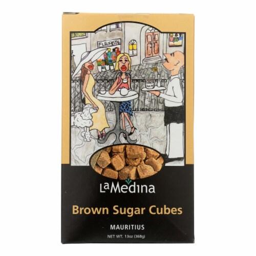 La Medina Sugar Cubes - Brown - Case of 12 - 13 oz. Perspective: front
