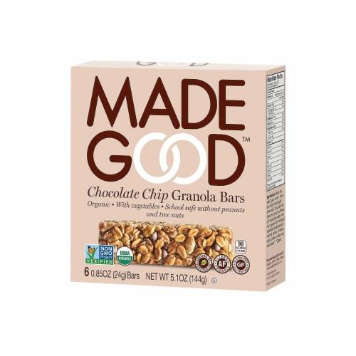 MadeGood Chocolate Chip Granola Bars Perspective: front