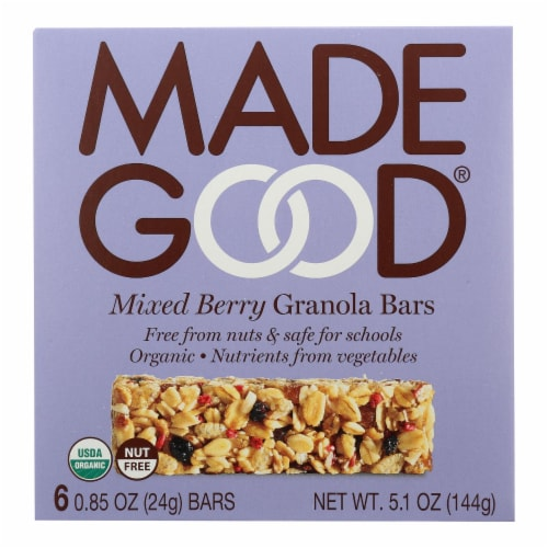 Made Good Granola Bar - Mixed Berry - Case of 6 - 5 oz. Perspective: front