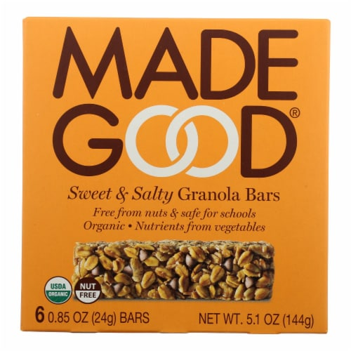 Made Good - Granola Bar Sweet & Salty - Case of 6 - 5.1 oz Boxes Perspective: front