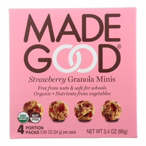 Made Good Granola Minis - Strawberry - Case of 6 - 3.4 oz. Perspective: front
