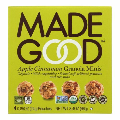 Made Good Granola Minis - Apple Cinnamon - Case of 6 - 3.4 oz. Perspective: front