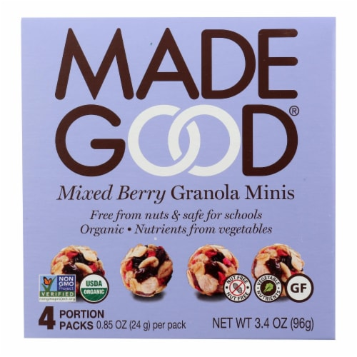 Made Good - Granola Mini Mixed Bery - Case of 6 - 4/.85OZ Perspective: front