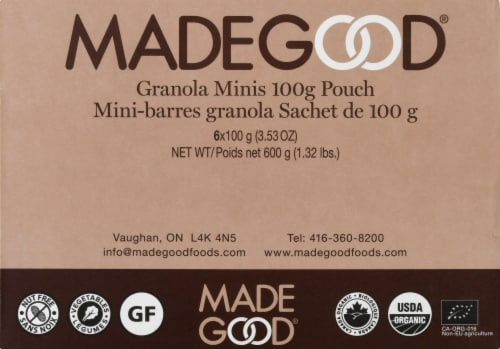 MadeGood Chocolate Chip Granola Minis 6 Count Perspective: front