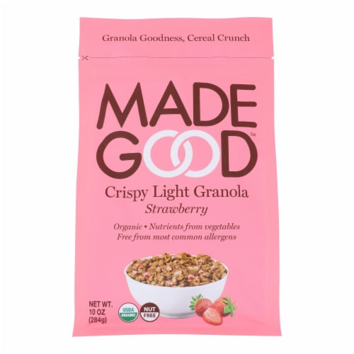 Made Good - Granola Crispy Strawberry - Case of 8 - 10.0 OZ Perspective: front