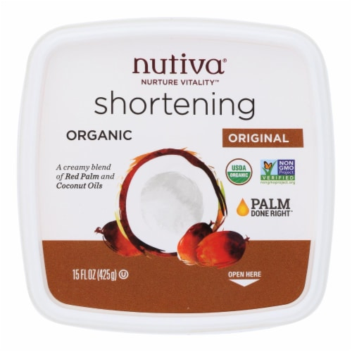 Nutiva Organic Superfood Shortening - Case of 6 - 15 oz. Perspective: front