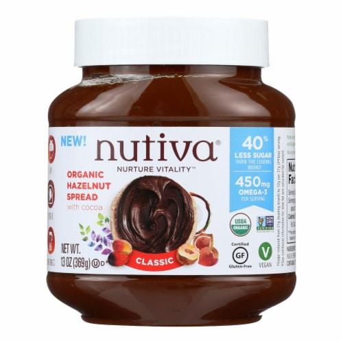 Nutiva Organic Hazelnut Spreads - Chocolate - Case of 6 - 13 oz. Perspective: front