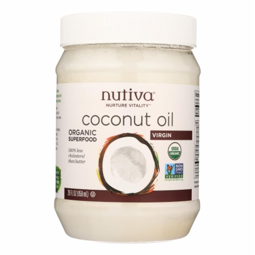Nutiva Virgin Coconut Oil Organic - 29 oz - Case of 6 Perspective: front