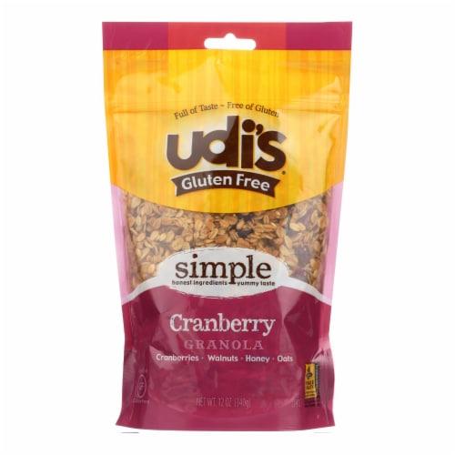 Udi's Cranberry Granola  - Case of 6 - 11 OZ Perspective: front
