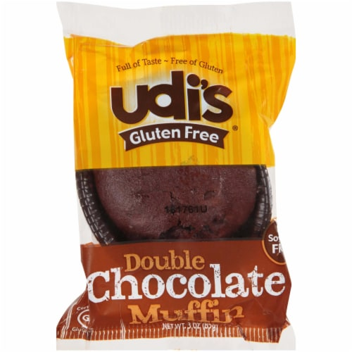 Udis Gluten Free Double Chocolate Muffin, 3 Ounce -- 36 per case. Perspective: front