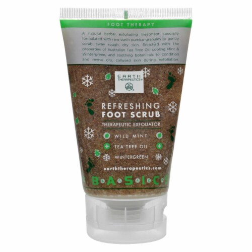 Earth Therapeutics Refreshing Foot Scrub Wild Mint - 4 fl oz Perspective: front