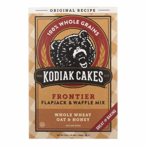 Kodiak Cakes Flapjack and Waffle Mix - Whole Wheat Oat and Honey - Case of 6 - 24 oz. Perspective: front