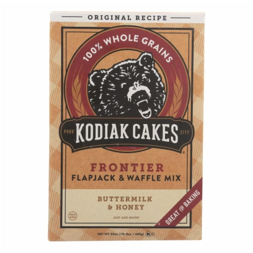 Kodiak Cakes Flapjack and Waffle Mix - Buttermilk and Honey - Case of 6 - 24 oz. Perspective: front