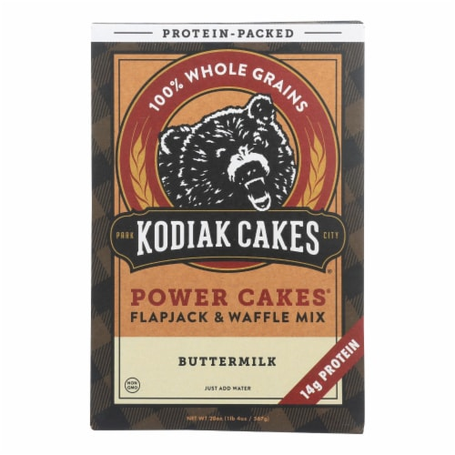Kodiak Cakes Power Cakes Flapjack & Waffle Mix - Case of 6 - 20 OZ Perspective: front
