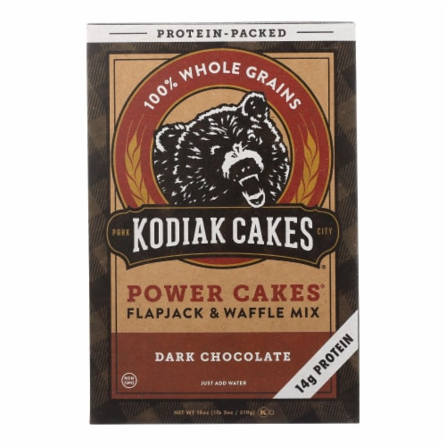 Kodiak Cakes Power Cakes Dark Chocolate Flapjack And Waffle Mix  - Case of 6 - 18 OZ Perspective: front