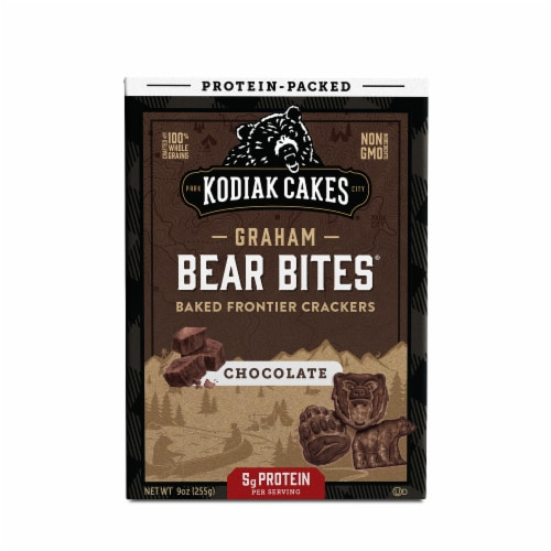 Kodiak Cakes Protein Packed Bear Bites Graham Crackers Chocolate 9oz  PK 6 Perspective: front