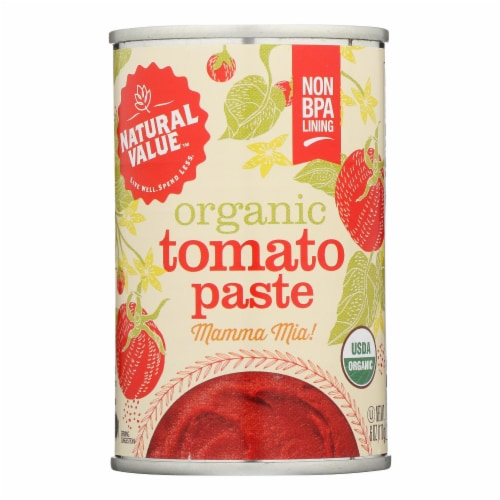 Natural Value Organic Tomato Paste - Case of 24 - 6 OZ Perspective: front