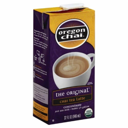 Oregon Chai The Original Concentrate Chai Tea Latte, 32 Fo (Pack of 6) Perspective: front
