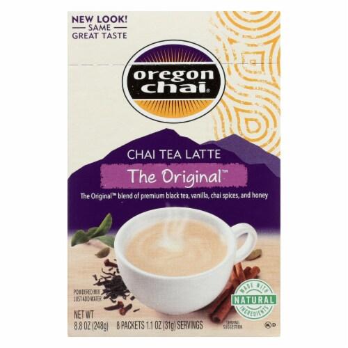 Oregon Chai Tea Latte Mix - The Original - Case of 6 - 8 Count Perspective: front