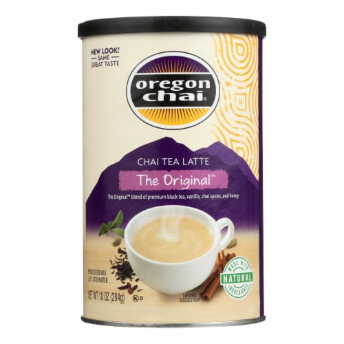 Oregon Chai Original Chai - Powdered Mix - Case of 6 - 10 oz. Perspective: front
