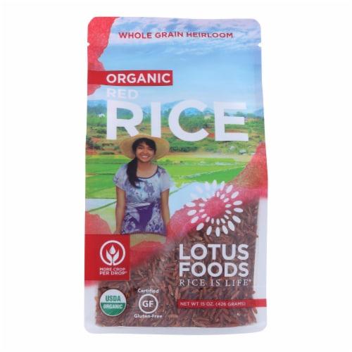 Lotus Foods Heriloom Bhutan Red Rice - Case of 6 - 15 oz. Perspective: front