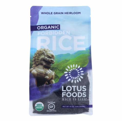 Lotus Foods Heirloom Forbidden Rice - Case of 6 - 15 oz. Perspective: front