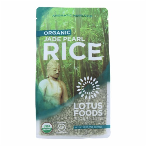 Lotus Foods Organic Jade Pearl Rice - Case of 6 - 15 oz. Perspective: front