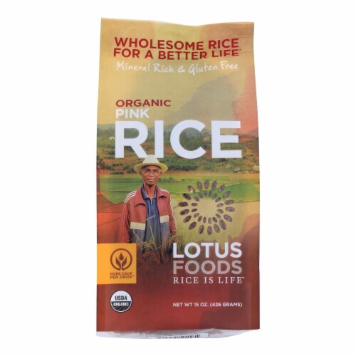 Lotus Foods Organic Madagascar Pink Rice - Case of 6 - 15 oz. Perspective: front